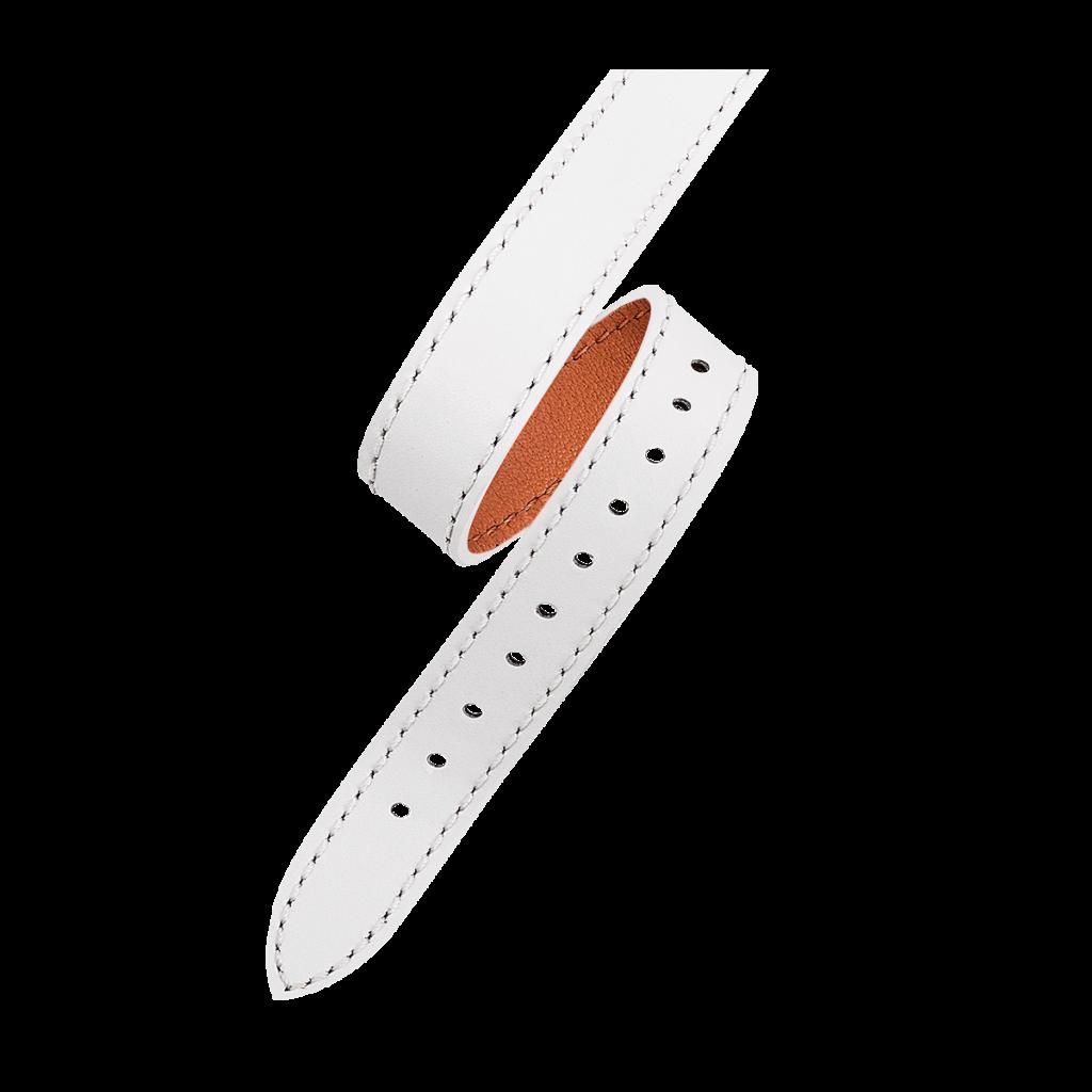 OPERA Bracelet femme double tour - Cuir blanc