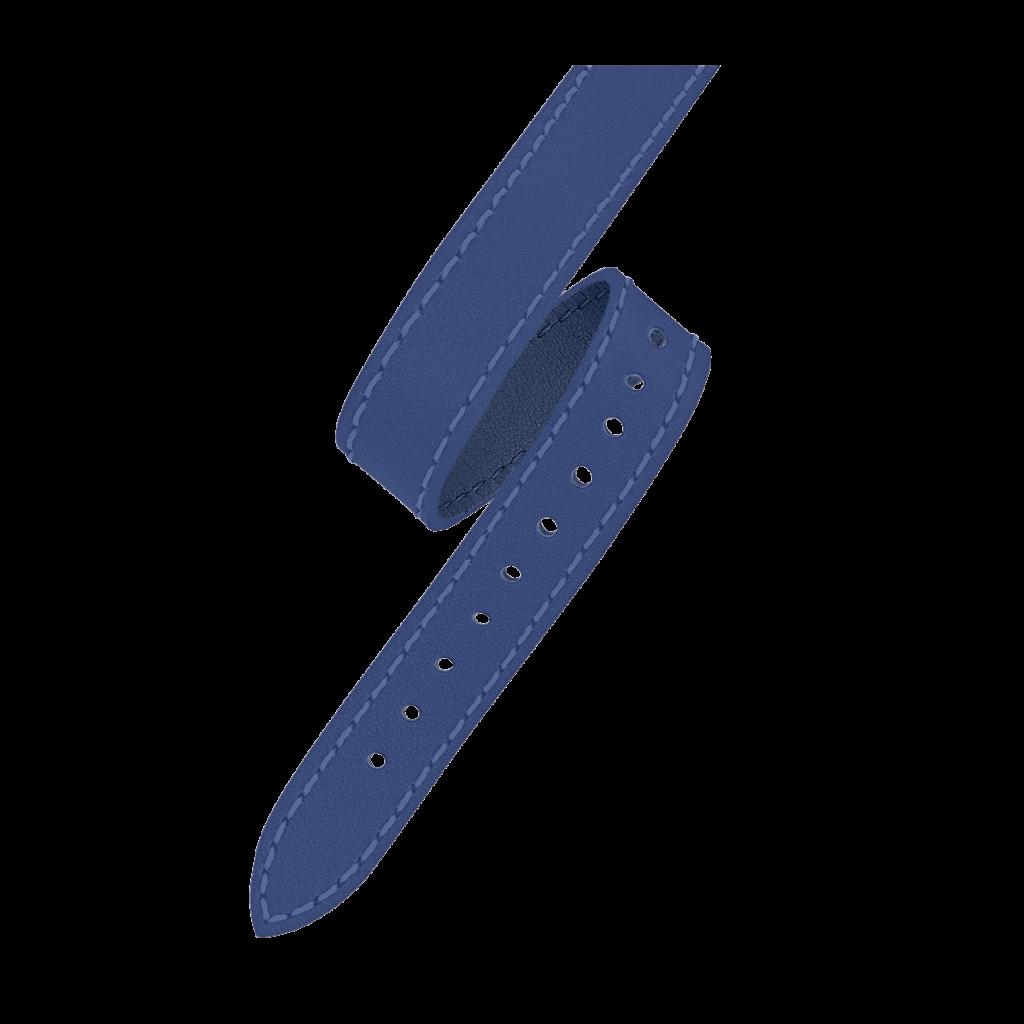 OPERA Women's watch strap - Double loop blue leather strap