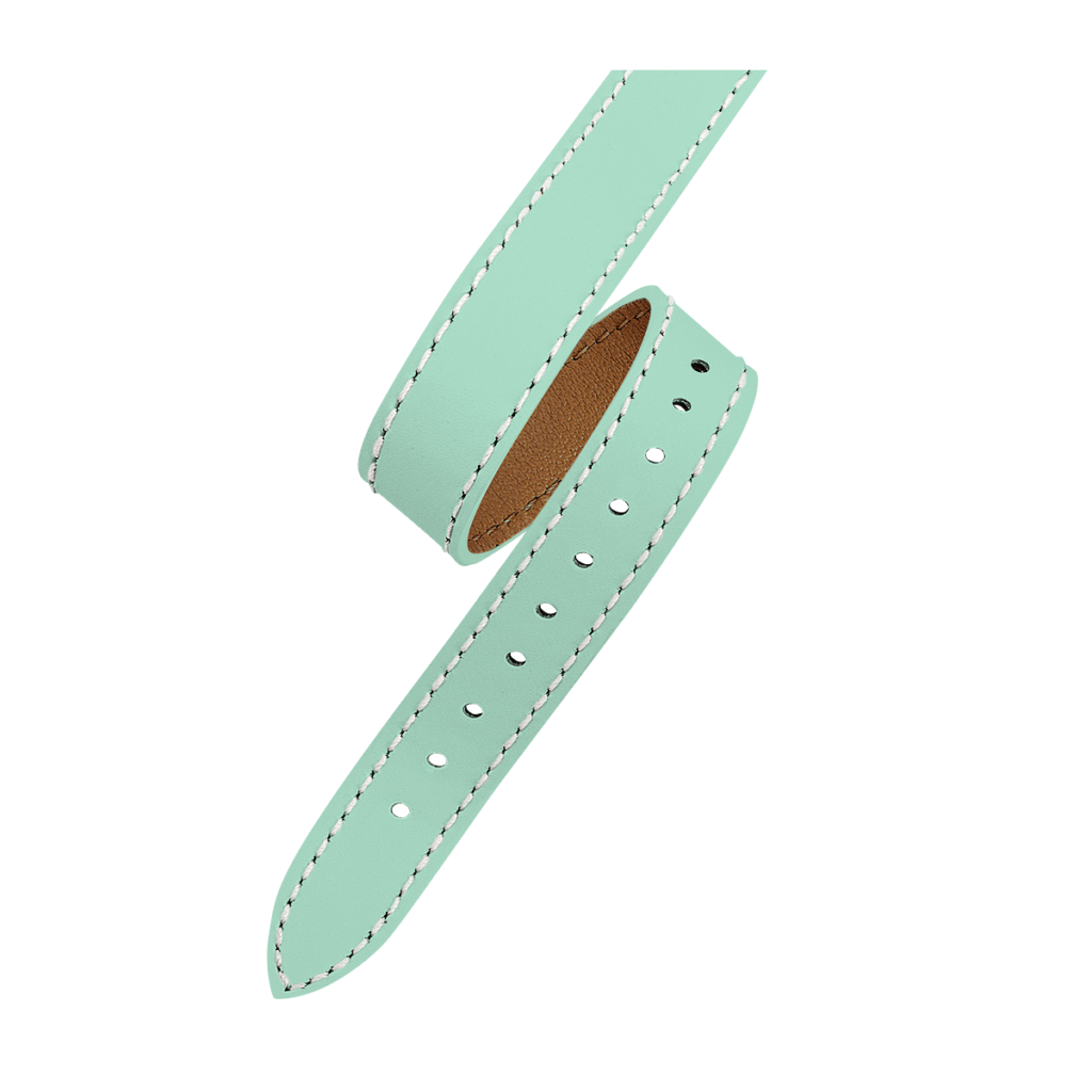 OPERA Bracelet femme double tour - Cuir vert