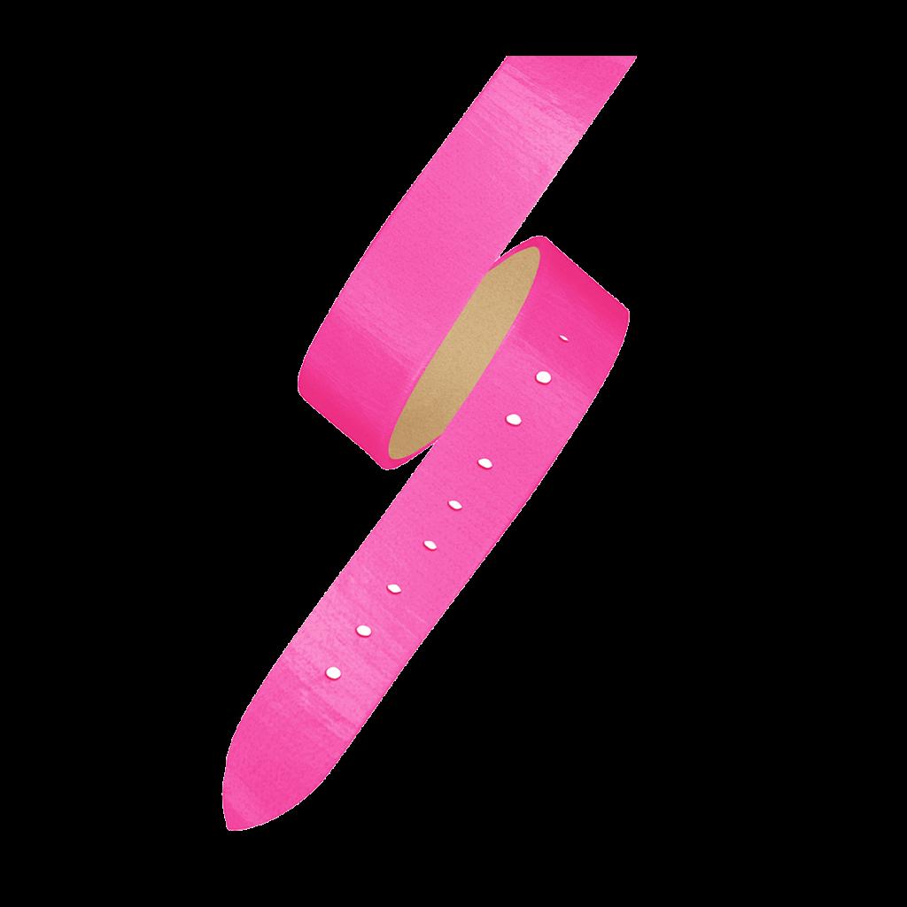 OPERA Women's watch strap - Double loop neon pink strap