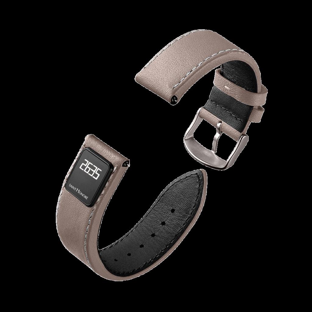 SH CONNECT Bracelet homme - Bracelet connecté marron