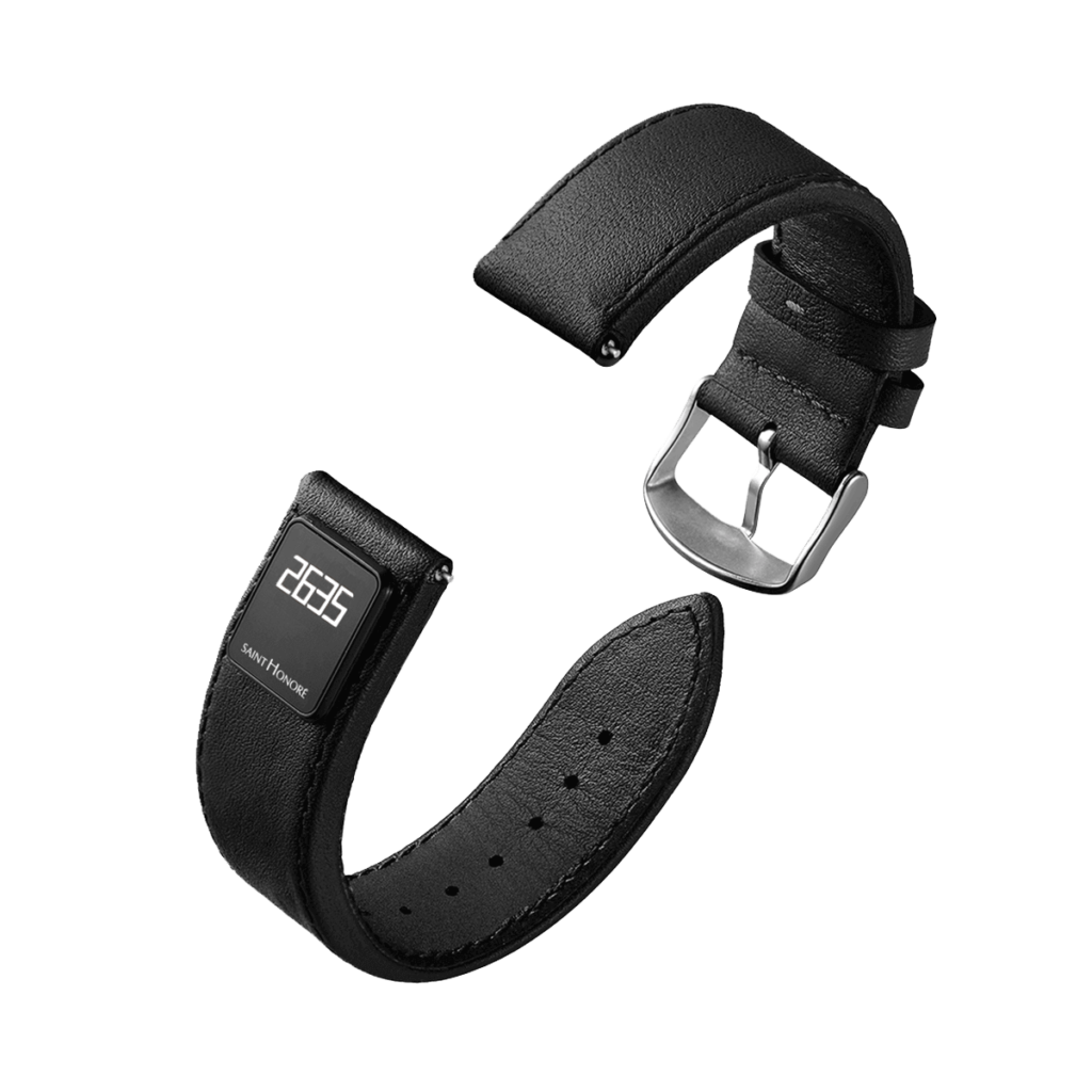 SH CONNECT Men's watch strap - Black connected strap