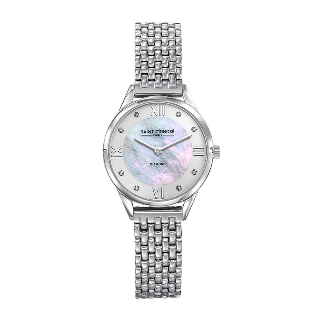 ALLURE Women's watch - Mother-of-pearl & diamonds, metal strap