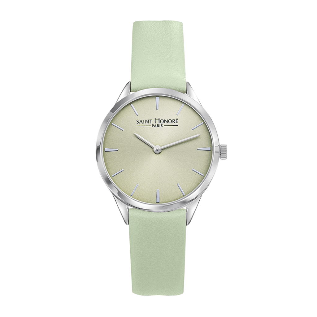 ALLURE Women's watch - Green dial, green leather strap