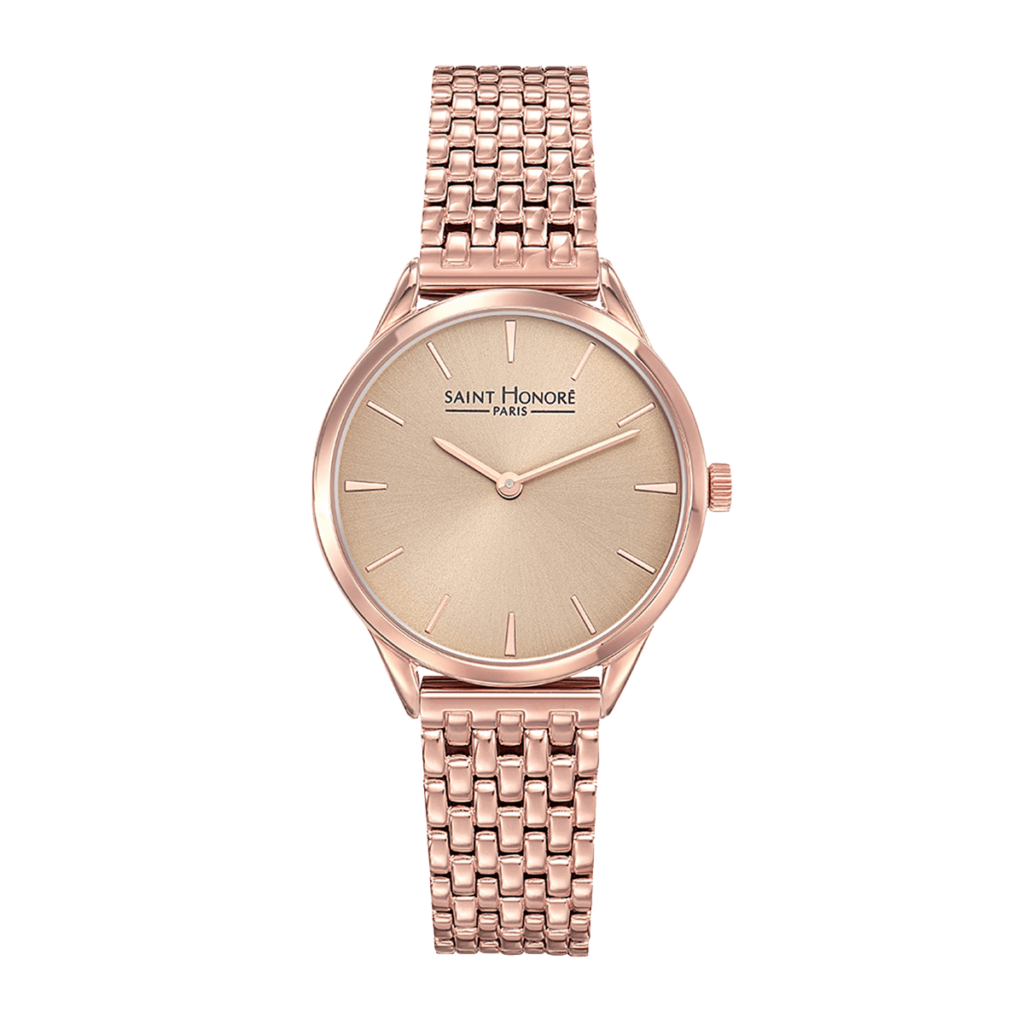 ALLURE Montre femme - Finition or rose, cadran champagne rosé