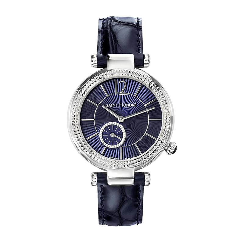 AUDACY Women's watch - Dark blue dial, blue leather strap