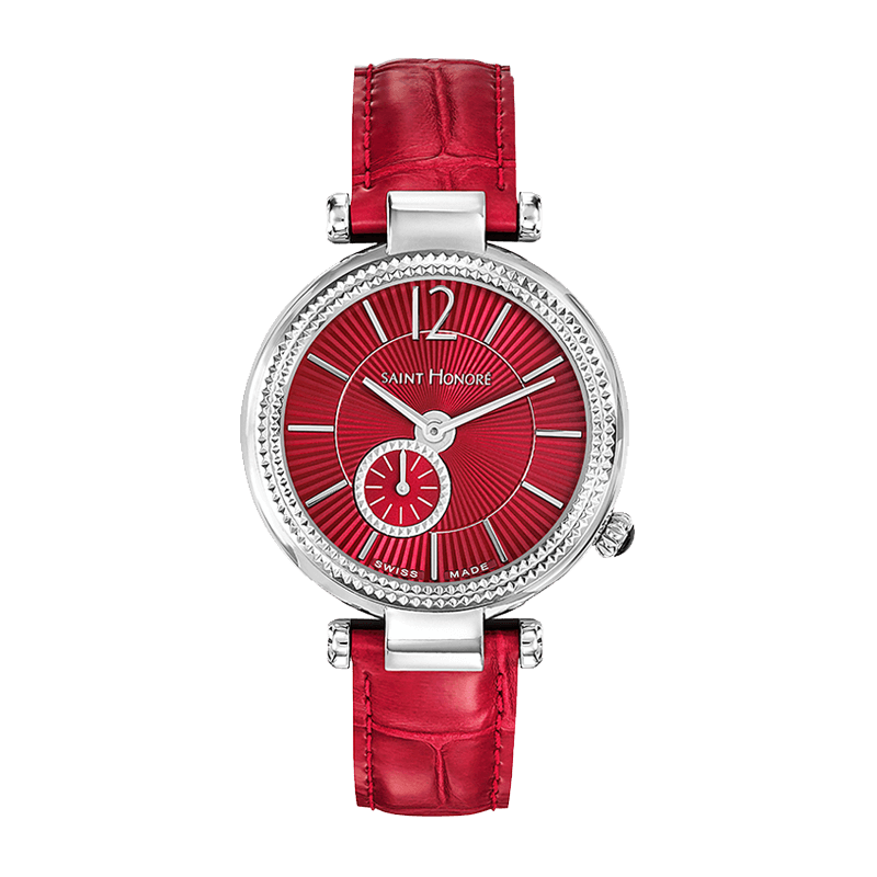 AUDACY Women's watch - Red dial, red leather strap