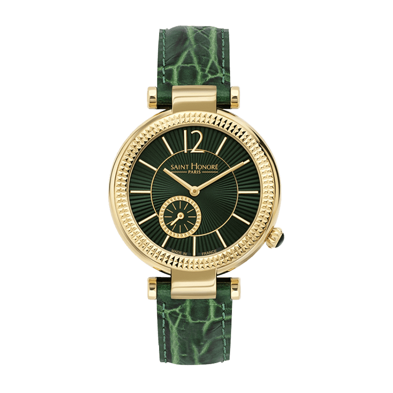 AUDACY Women's watch - Green dial, green leather strap