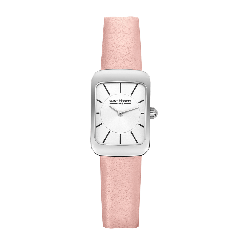 ENJOY Women's watch - Stainless steel case, pink leather strap