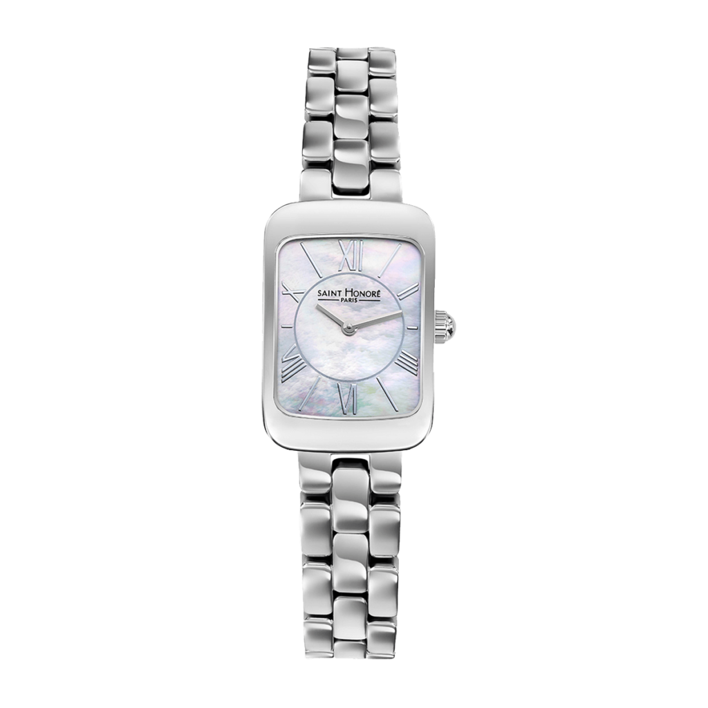 ENJOY Women's watch - Stainless steel case and strap, mother-of-pearl dial