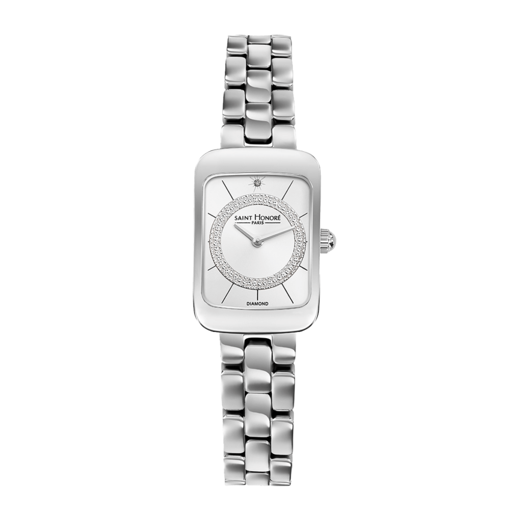 ENJOY Women's watch - Stainless steel case and strap, diamond effect dial