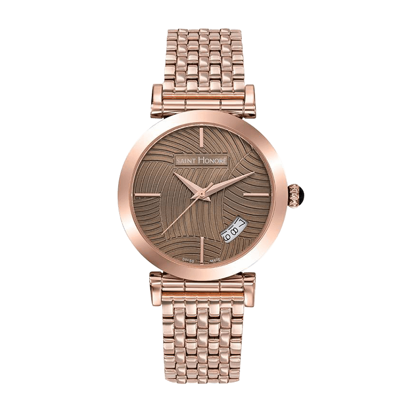 OPERA Women's watch - Rose gold finish case and strap, brown lined dial