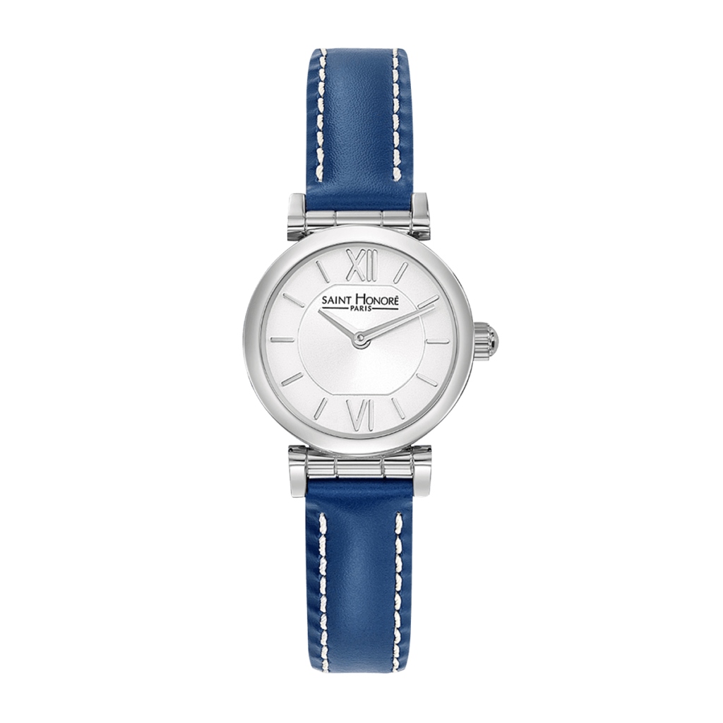 OPERA MINI Women's watch - Stainless steel case, blue leather strap