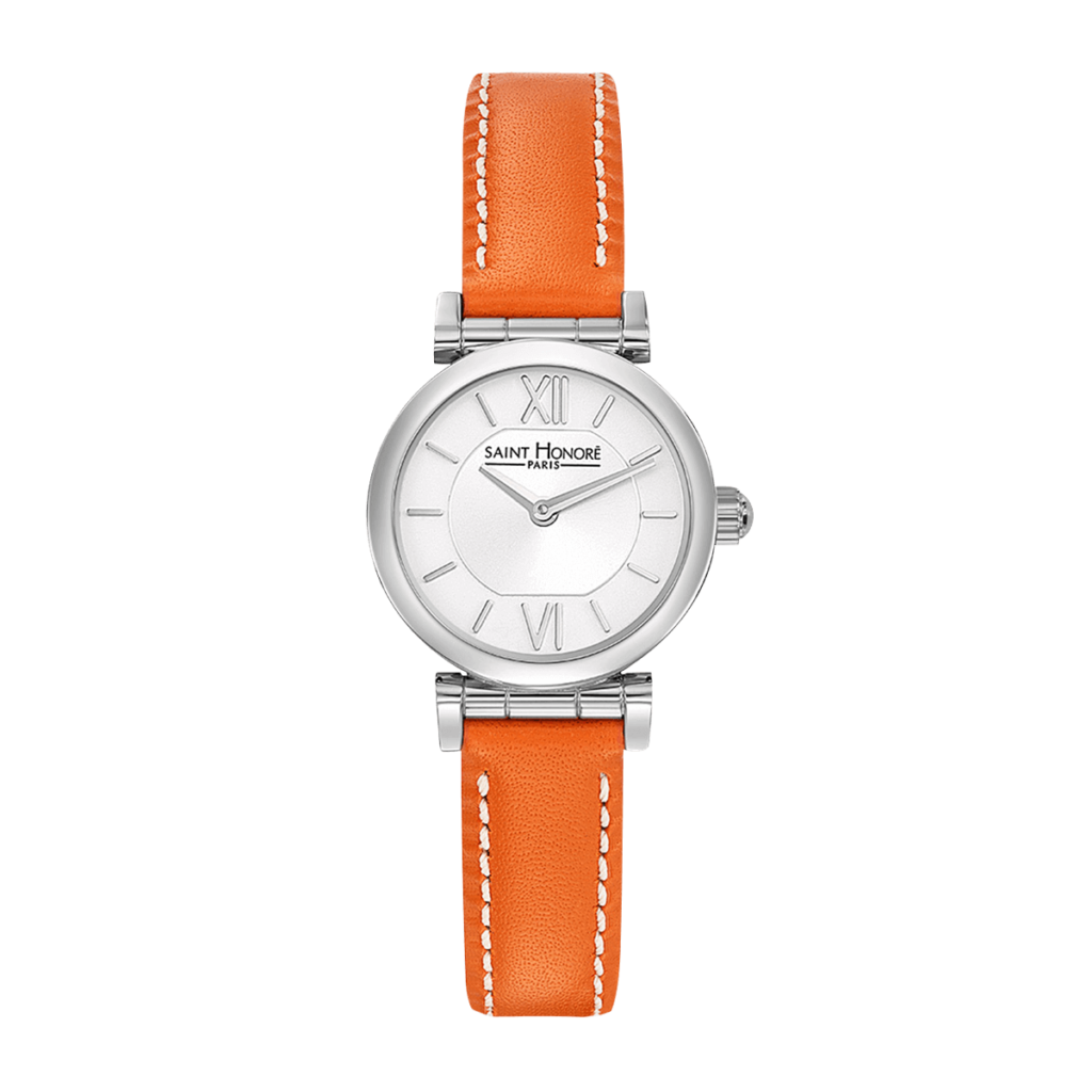 OPERA MINI Women's watch - Stainless steel case, orange leather strap