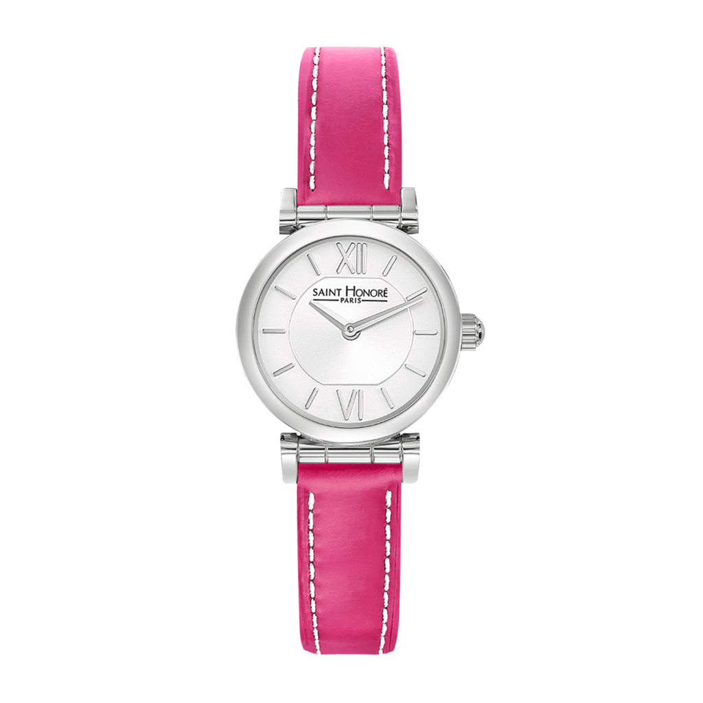 OPERA MINI Women's watch - Stainless steel case, pink leather strap