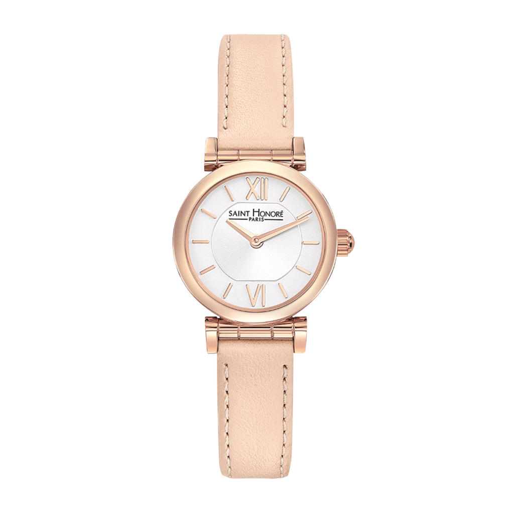 OPERA MINI Women's watch - Rose gold finish case, light pink leather strap