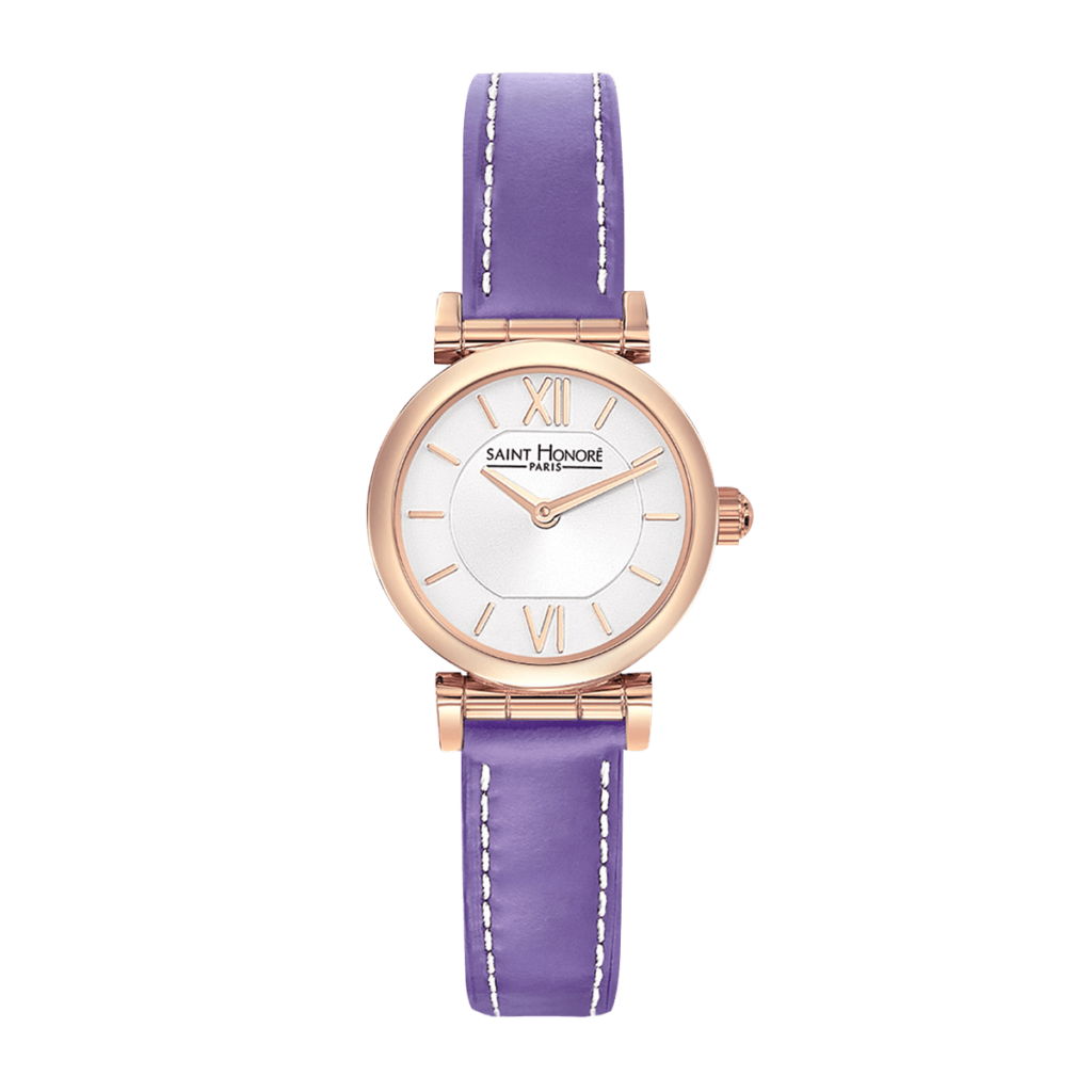 OPERA MINI Women's watch - Rose gold finish case, purple leather strap
