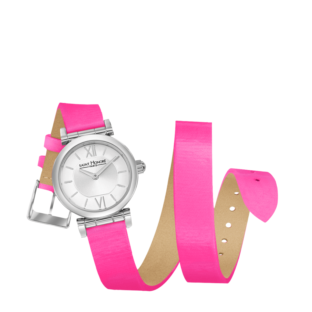 OPERA TWIST Women's watch - Stainless steel case, double loop neon pink strap