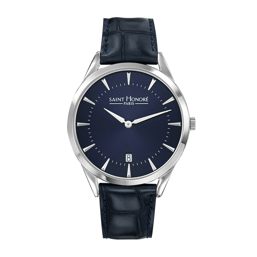 ALLURE Men's watch - Dark blue dial, blue leather strap