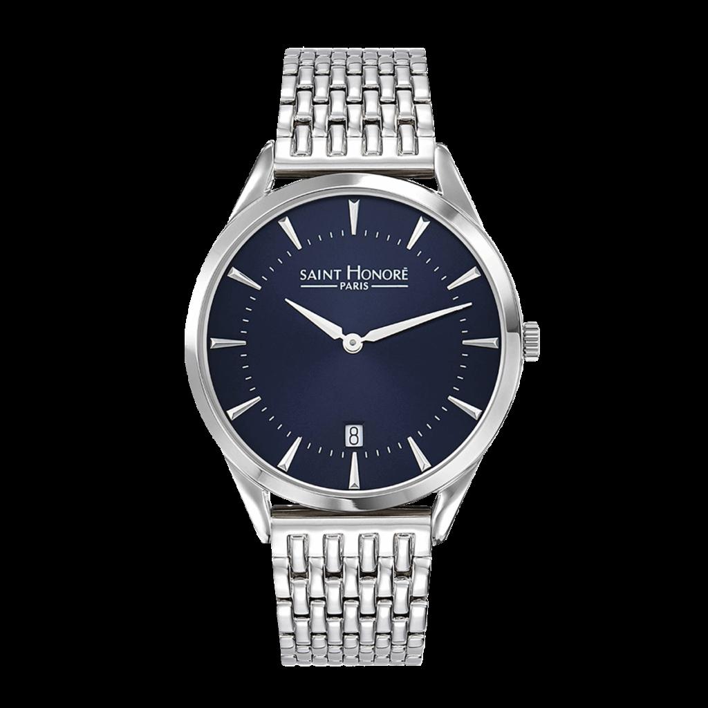 ALLURE Montre homme - Cadran bleu, bracelet métal