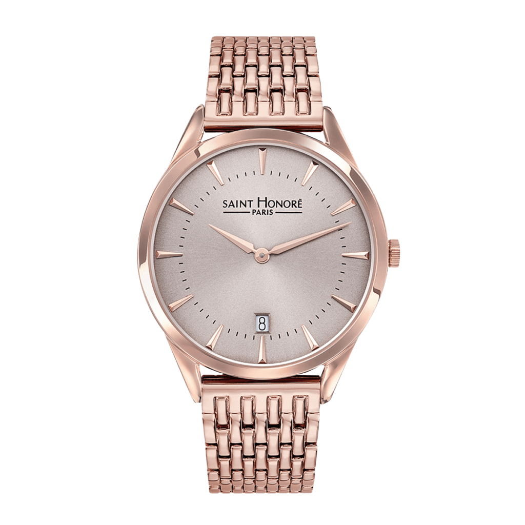 ALLURE Montre homme - Finition or rose, cadran champagne rosé