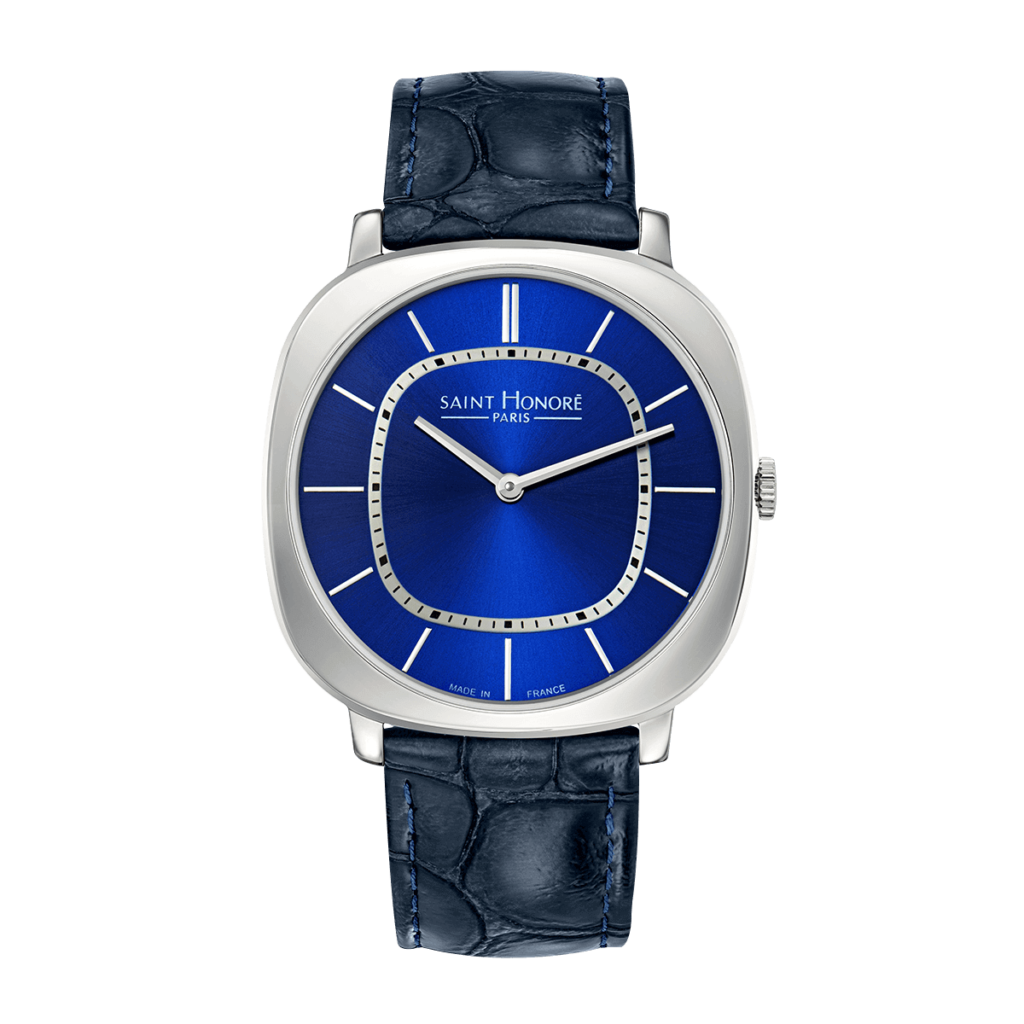 AUTEUIL Men's watch - Blue dial, blue leather strap