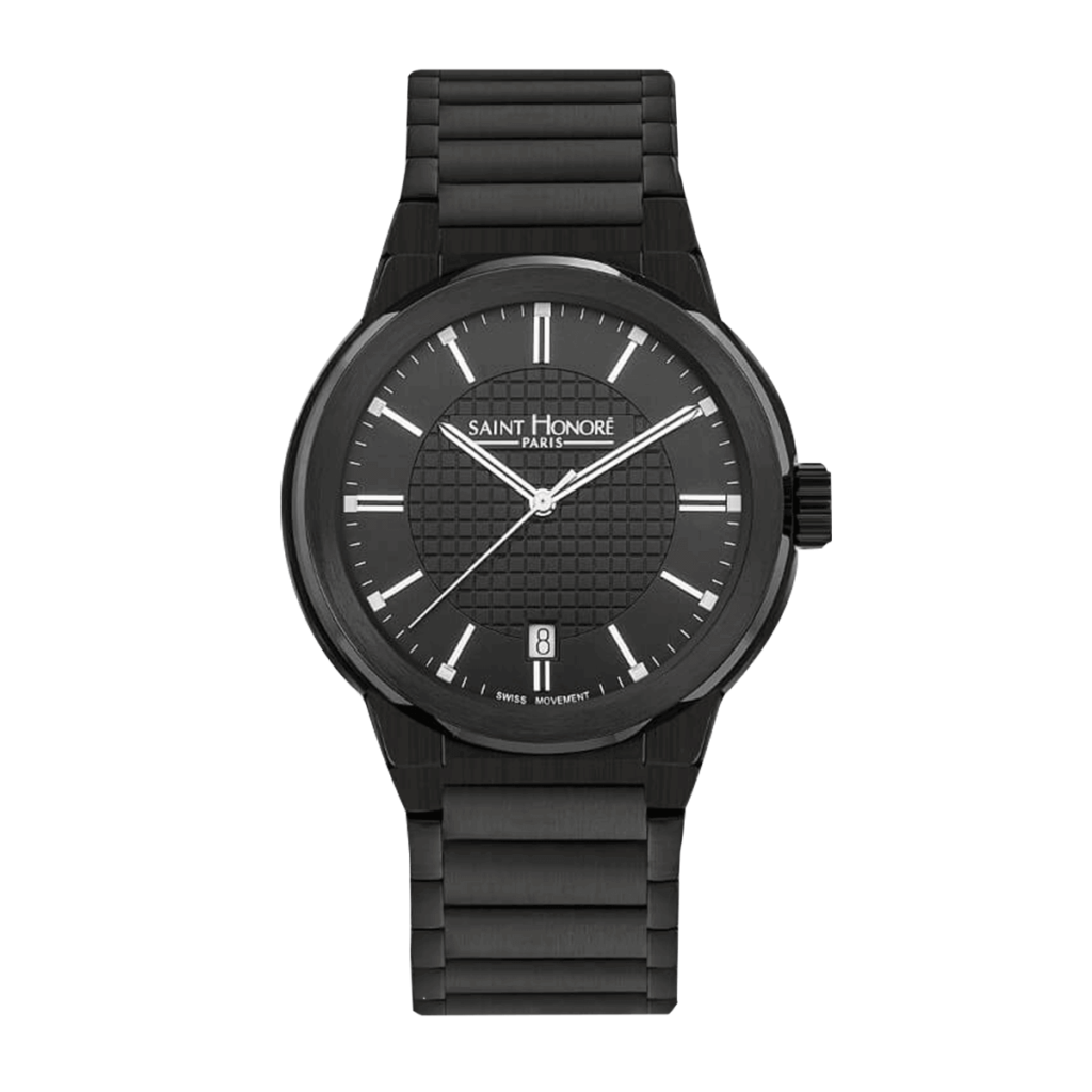 HAUSSMAN CLASSIC Men's watch - Black finish stainless steel case and strap, black dial