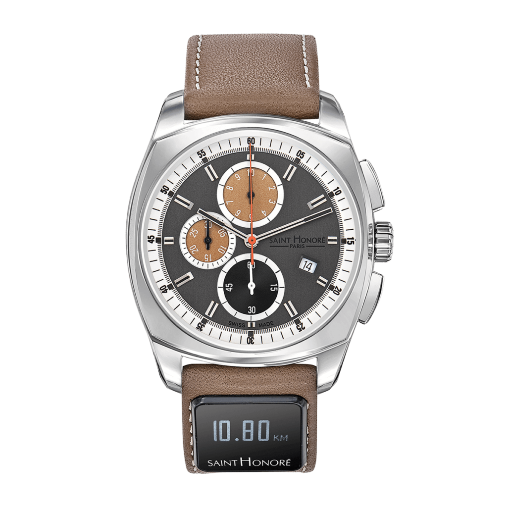 SH CONNECT Men's watch - Lutecia chronograph watch, grey dial, connected strap