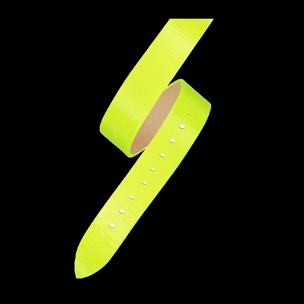 OPERA Women's watch strap - Double loop neon yellow strap