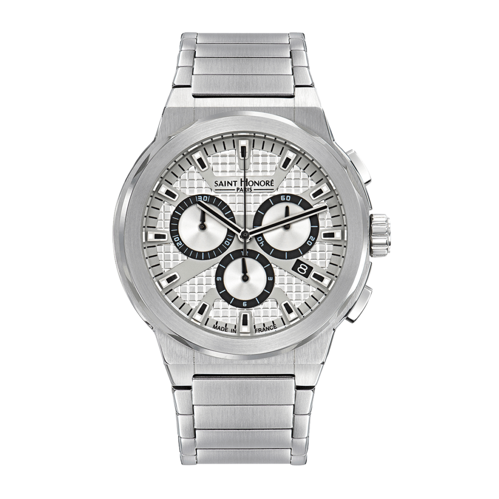 HAUSSMAN SPORT Men's chronograph watch - Stainless steel case, metal strap