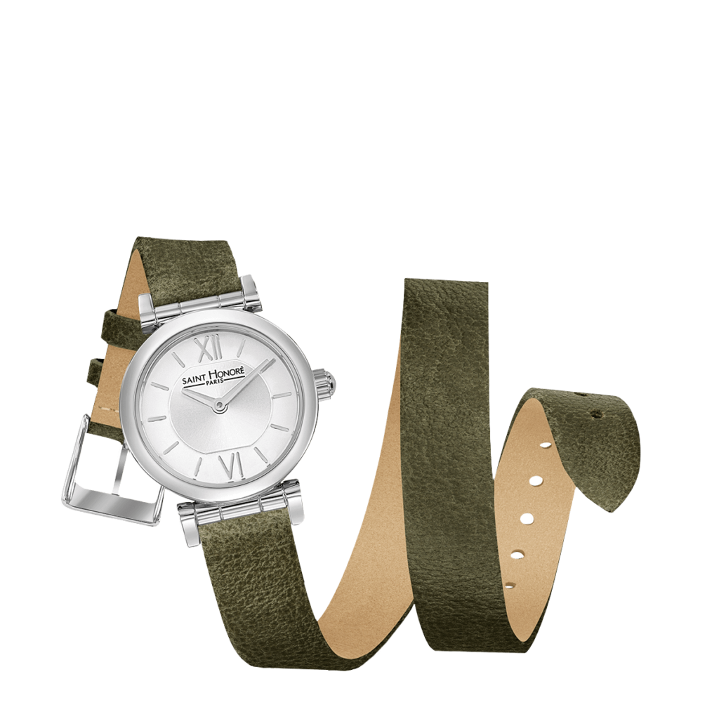 OPERA TWIST Women's watch - Stainless steel case, double loop khaki strap