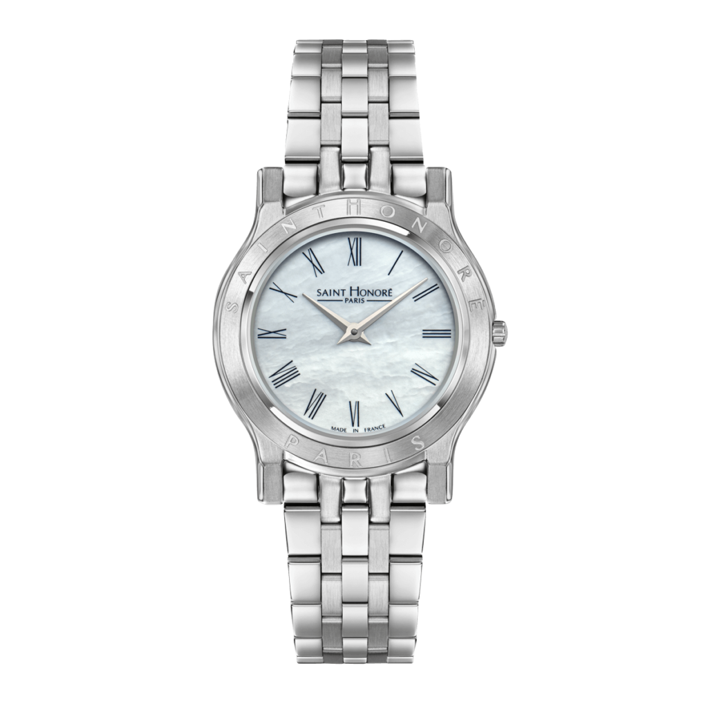 VINCENNES Women's watch - Stainless steel case, mother-of-pearl dial, metal strap