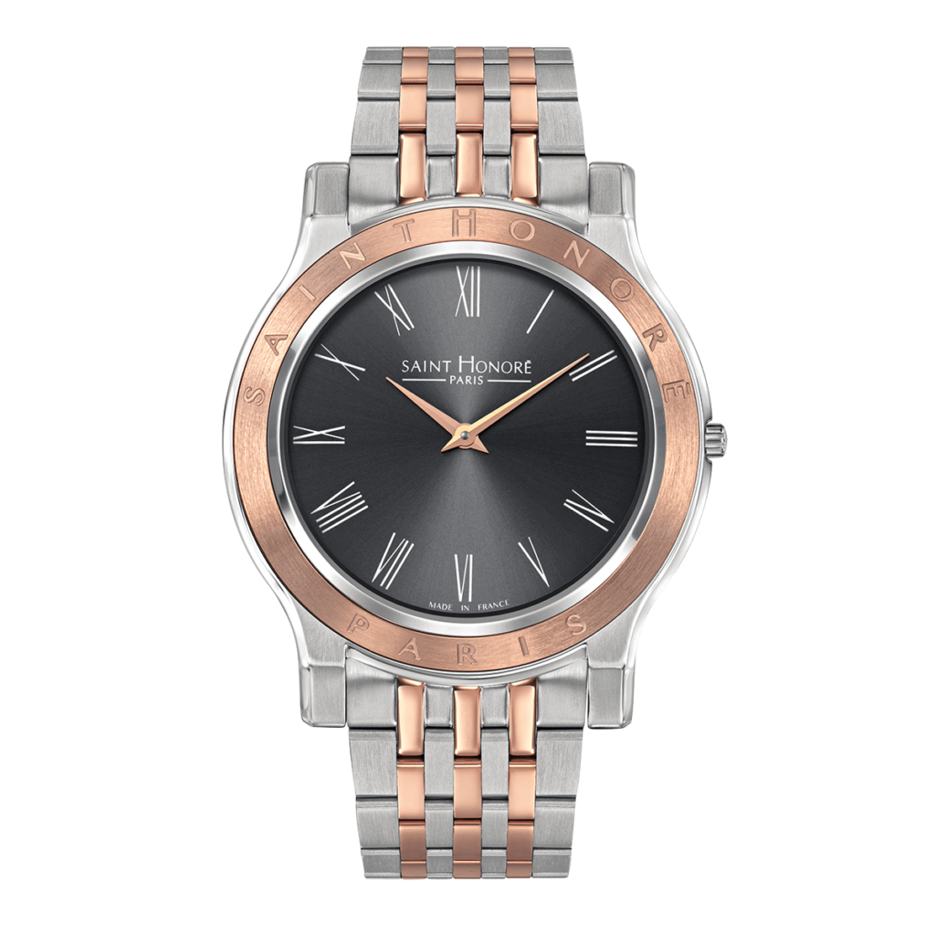 VINCENNES Men's watch - Two-tone case and strap, grey dial