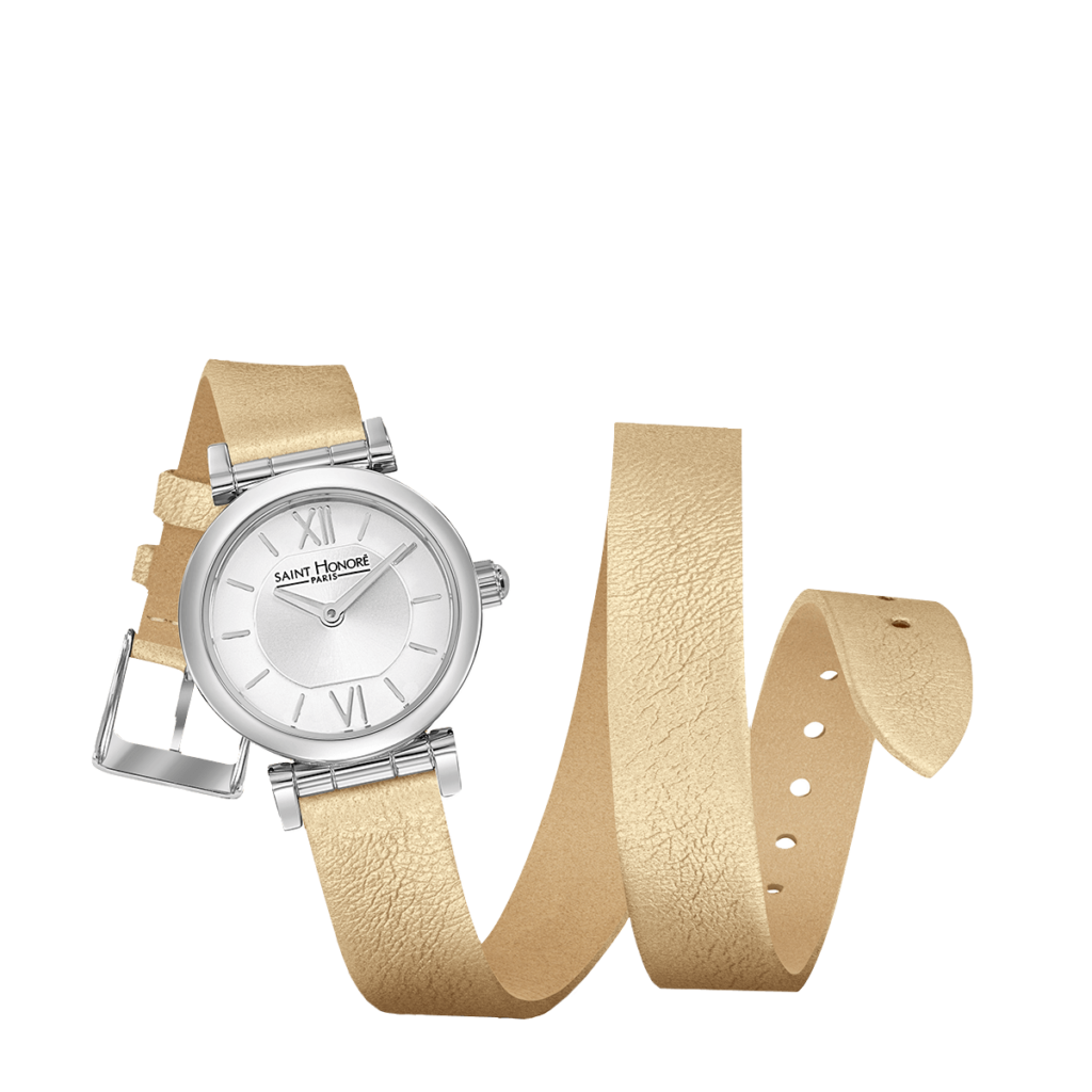 OPERA TWIST Women's watch - Stainless steel case, double loop golden strap